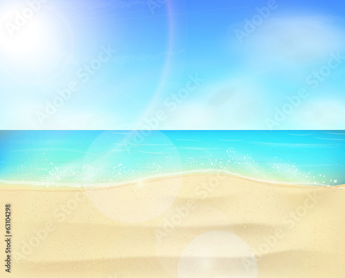 Beach coastline landscape