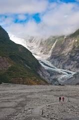 Franz Josef Glacier in Westland National Park of New Zealand's S