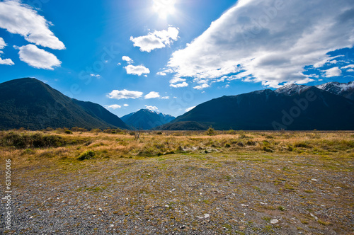 Tuinposter Canyon Southern alpine alps mountain at Arthur's Pass National Park New
