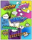 コミック・吹き出し・コマ割り付き背景素材 - 63105267