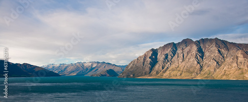 Famous Lake Hawea in Wanaka, New Zealand
