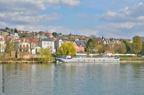 France, the city of Triel sur Seine