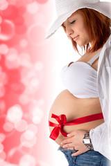 sinnliche schwangere Frau