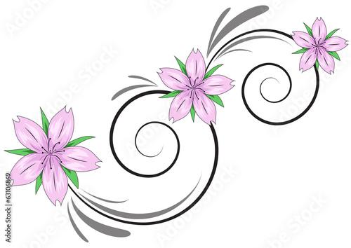 Decorazione fiori di ciliegio