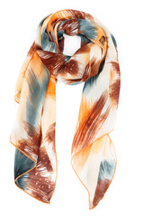 silk scarf on a white background