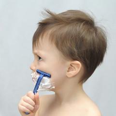 Boy shaving
