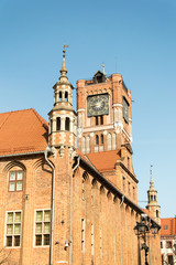 Tower with clock in Torun