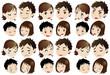 核家族(二世代)の表情セット