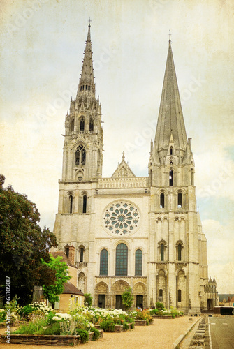 antique church building in france