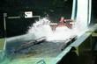 Fahrgäste in einer der Wasserrutsche - 63109214