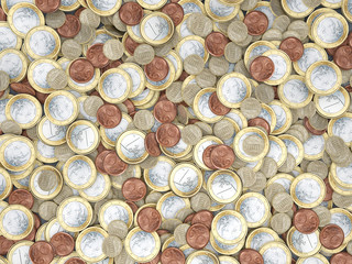 Viele Euromünzen
