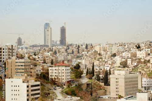 Amman skyline view in the morning,  Jordan