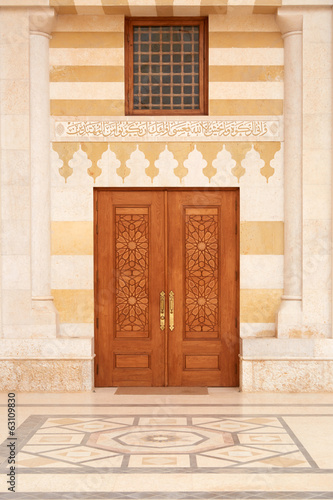 Mosque door in middle east