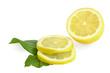 Limone affettato fondo Bianco
