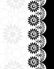 Decorative Border black-white