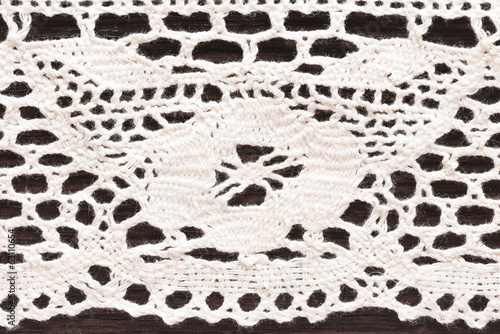 Light cotton crocheted lace macro