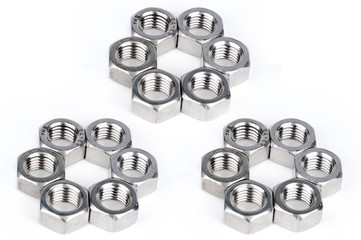 screw / nut isolated on the white backgrounds