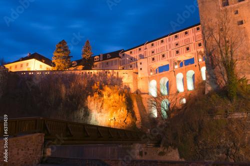 Cesky Krumlov - castle in the evening light