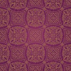 Ethnic decorative pattern. Lacy seamless ornament in retro style