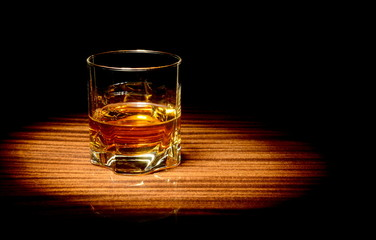 Whisky in a glass