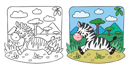 Little Zebra coloring book