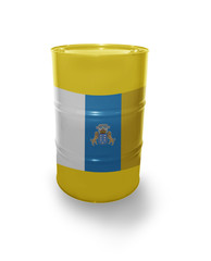Barrel with Canarian flag