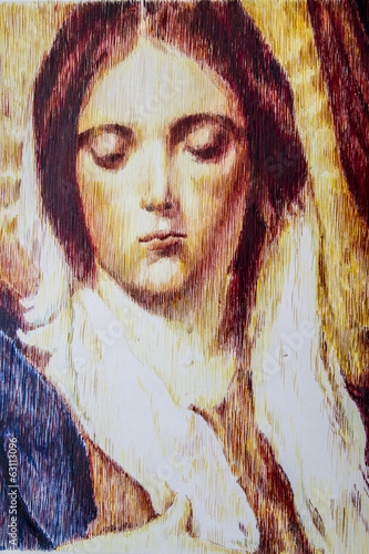 Maria magdalena, virgin image illustration