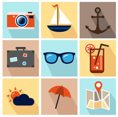 Summer Icons - Flat Design