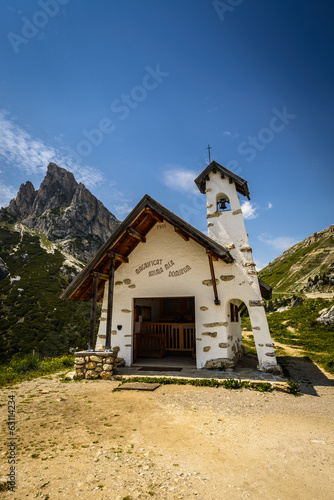 Small church in mountains