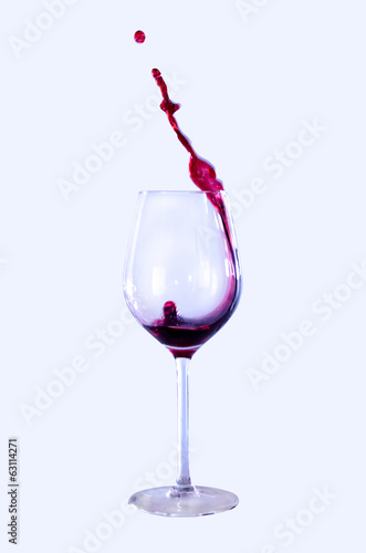 canvas print picture Glas Weinglas Wein Spritzer Feier Party