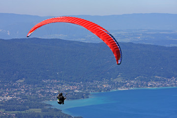paraglider over Annecy lake