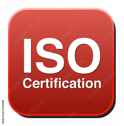 Iso Certification button