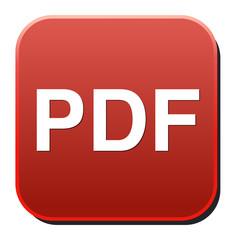 pdf glossy web icon on white background