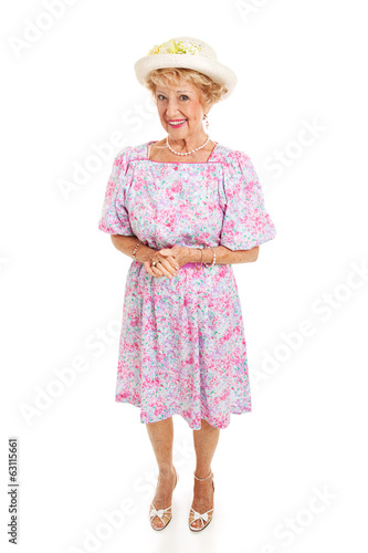 Southern Senior Lady - Isolated