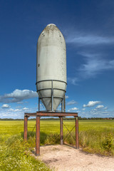 Solitary Silo in a Green Field