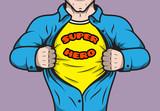 Masked comic book superhero