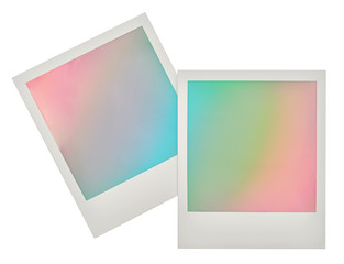 Instant photo frames with pastel colored background