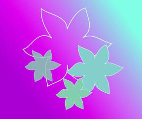 Fiori viola e azzurro