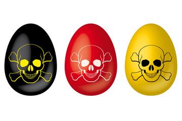 Dioxin-Eier in Schwarz Rot Gold