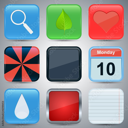 Application icons vector set 3