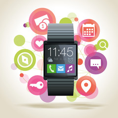Smartwatch mit Apps