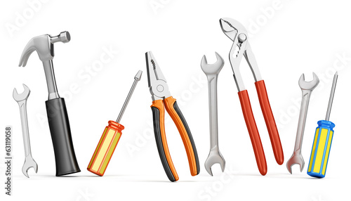 Home improvements tools isolated