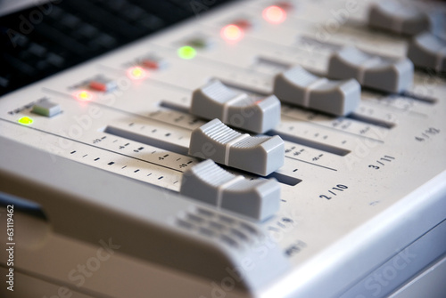 grey mixer in studio3