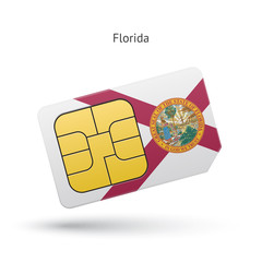 State of Florida phone sim card with flag.