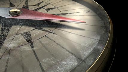 Antique Compass Closeup