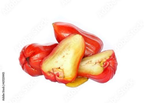 Rose Apple on white background