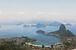 aerial view over Rio de Janeiro with Sugarloaf Mountain