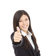 Confident businesswoman  thumb up