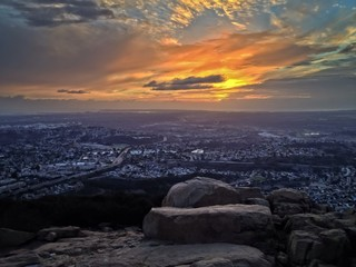 Sunset over the City of San Diego, California