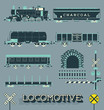 Vector Set: Model Train Collection - 63121807